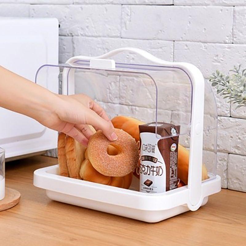 Küche Brotaufbewahrungsbehälter aus Kunststoff Erste-Hilfe-Medizin-Aufbewahrungsbehälter kosmetische Veranstalter Multifunktionale Flip Medizin Brotkästen T200115