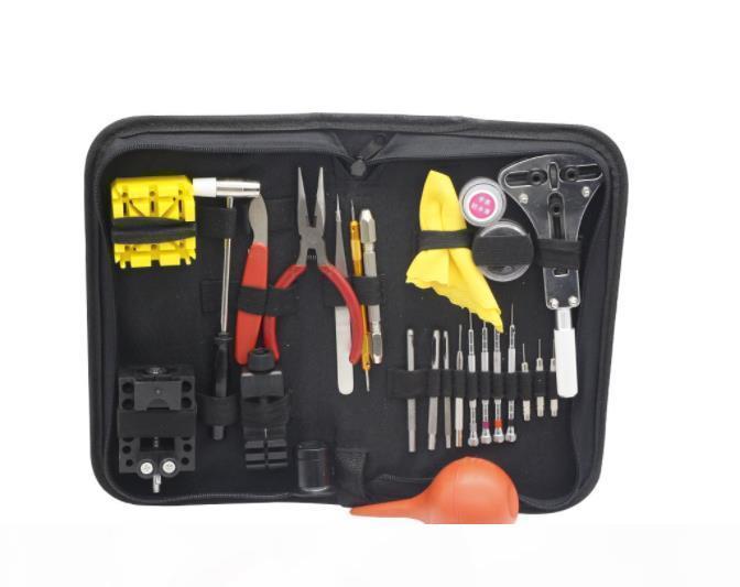 27pcs Nützliches Uhr-Werkzeug-Kit für Uhr-Reparatur-Werkzeug-Kit Parts Opener Verbindungpin-Remover-Frühlings-Stab-Saat Tamir Aletleri