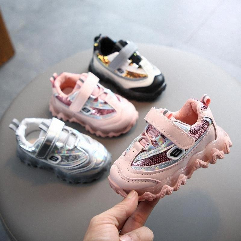 Детские светодиодные обувь Новый стиль 2020 Горячая продажа Детские Patchwork Кроссовки Детские ребёнки Мальчики Bling свет Luminous Спортивная обувь Дети Черный Sn i7Br #