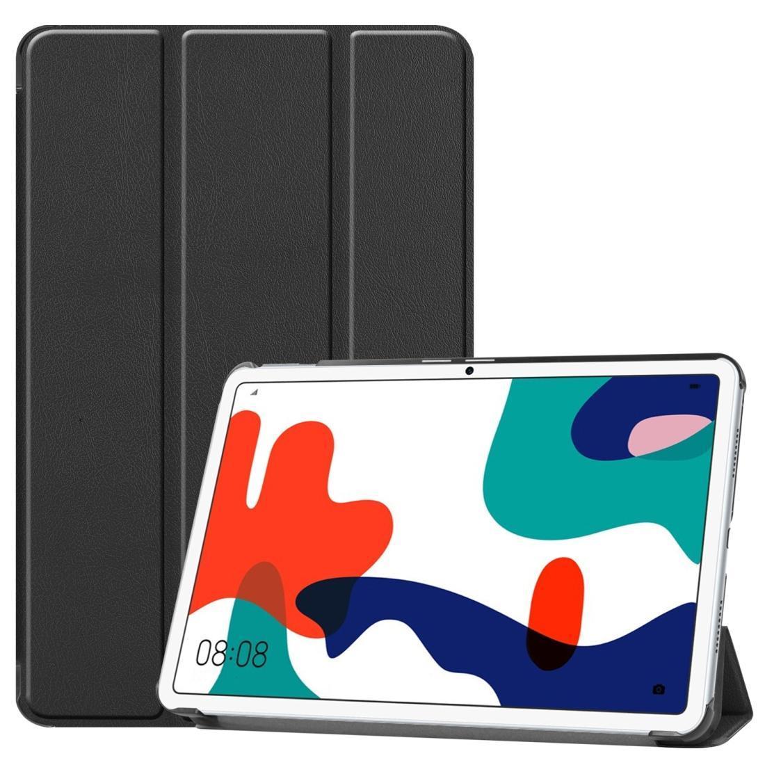 لهواوي MatePad 10.4 بوصة الصلبة اللون المضادة للسقوط الوجه الأفقي الكمبيوتر اللوحي واقية حقيبة جلد مع القوس