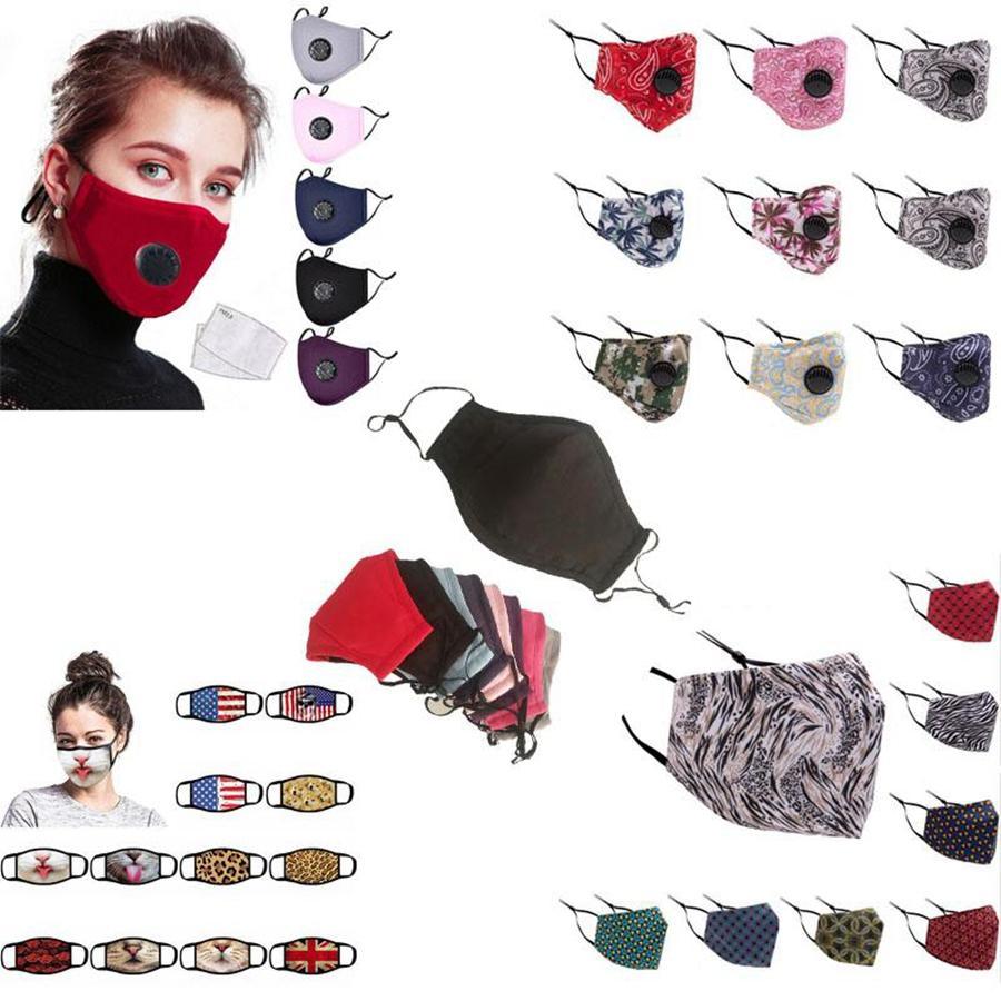 Máscaras máscara multi cara Estilo Adulto Kid PM2.5 padrão impresso Boca face da tampa reutilizável lavável contra pó DDA199