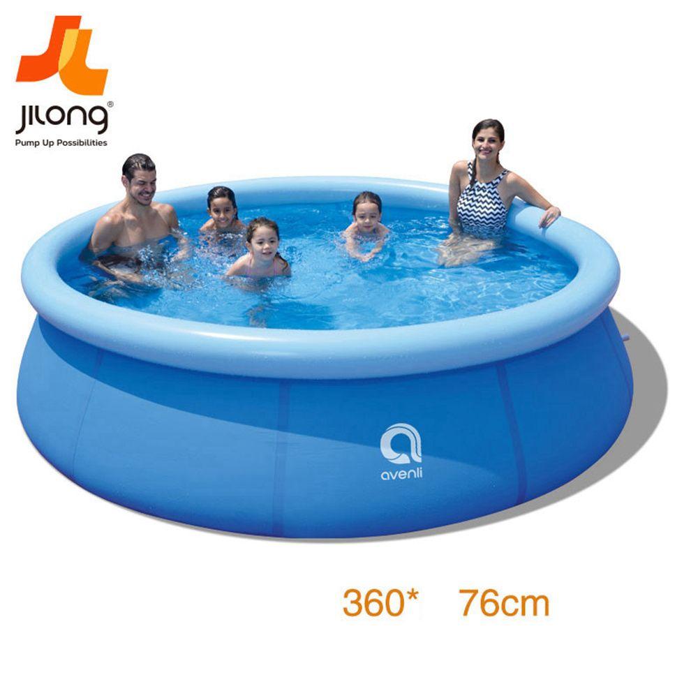 حمامات الأسرة نفخ سباحة فوق سطح الأرض للالفناء / خارج، ضربة المحمولة حمامات السباحة حتى مع مضخة تصفية للأطفال والبالغين