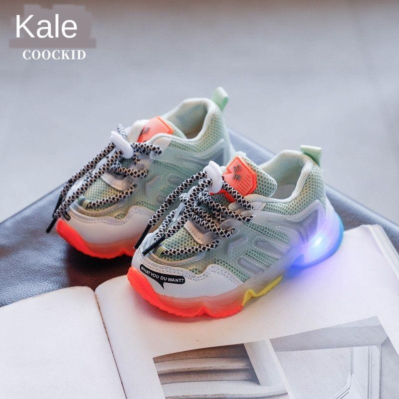 Sonbahar Yeni Moda şeker renk baba ayakkabıları koşu ayakkabıları çift net rahat öğrenci ışık 2020 Çocuk Şeker spor spor