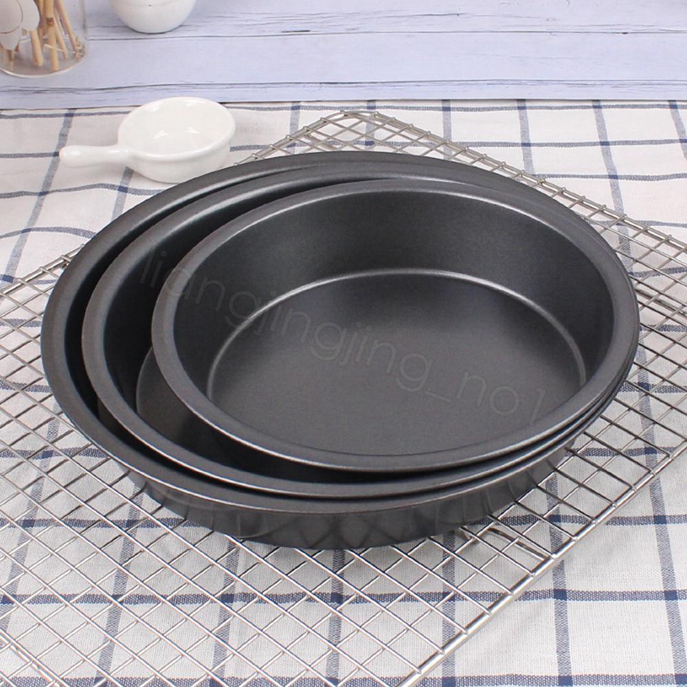 Антипригарной Пицца Противень Круглого Deep Dish Pizza Pan Pie Tray углеродистая сталь торт Кондитерские изделия Выпечка FFA4241 Mold Пан домой инструмент