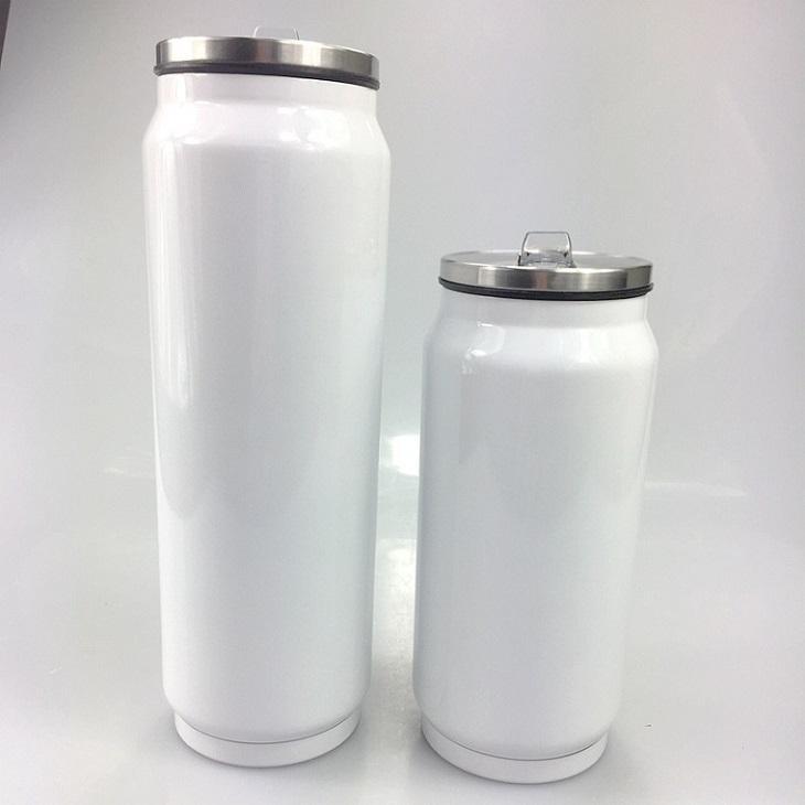 sublimação de calor DIY 17 onças latas Cola Caneca Lata de soda de café de aço inoxidável Cola Copos Cans dobro da bebida isolados a vácuo Coke Jar