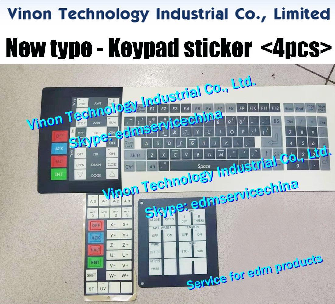 (4 шт / комплект) EDM клавиатура панели Набор для Sodick проволоки EDM, клавиатура наклейка набор AQ325, AQ327, AQ400, AQ535, AQ537L, AQ550, AQ750, A500, A280, A300, A320