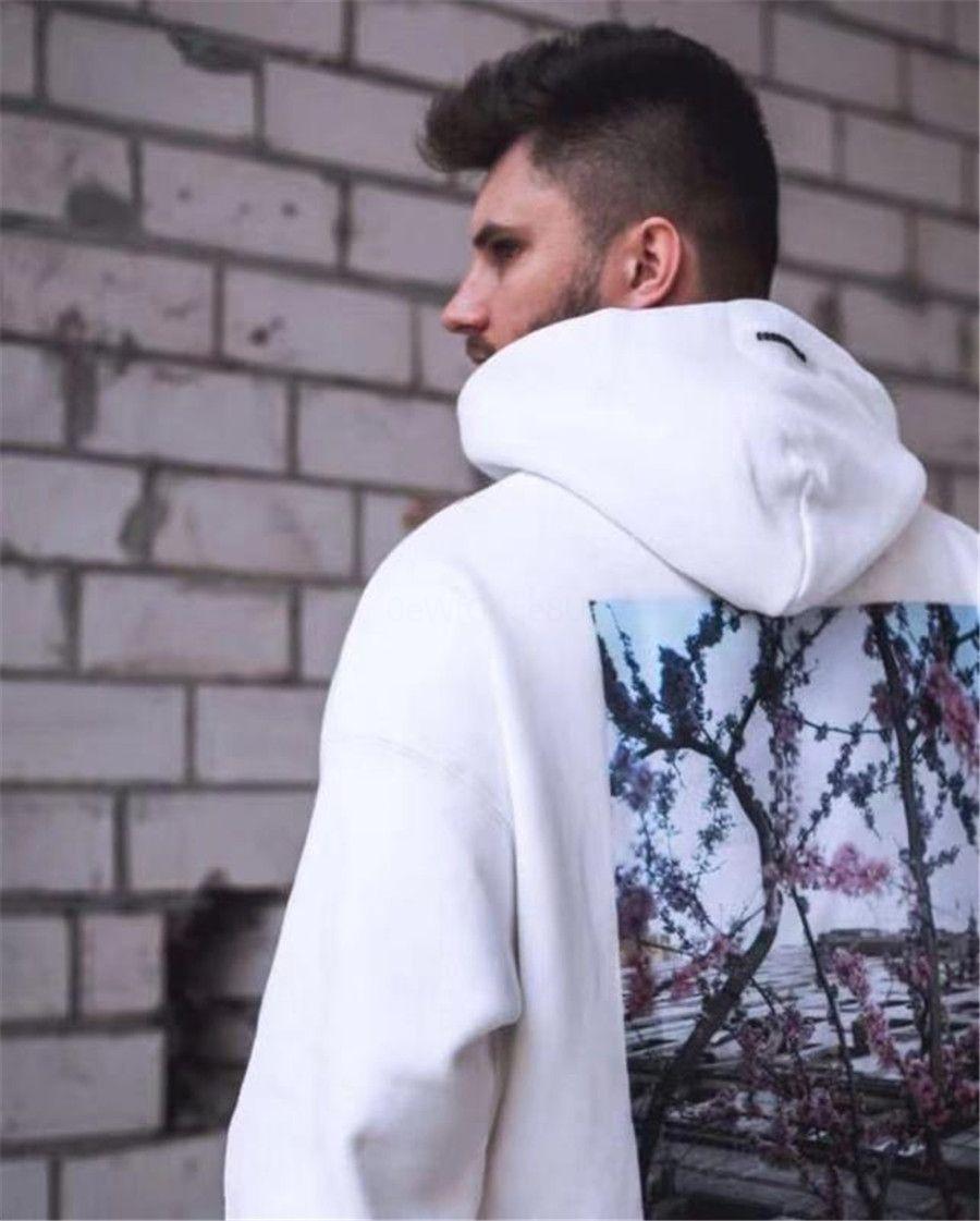 2020 Новый зимний мужской реглан рукава Folk Стиль Casual с капюшоном свитер пальто Color Set Oodie # 293