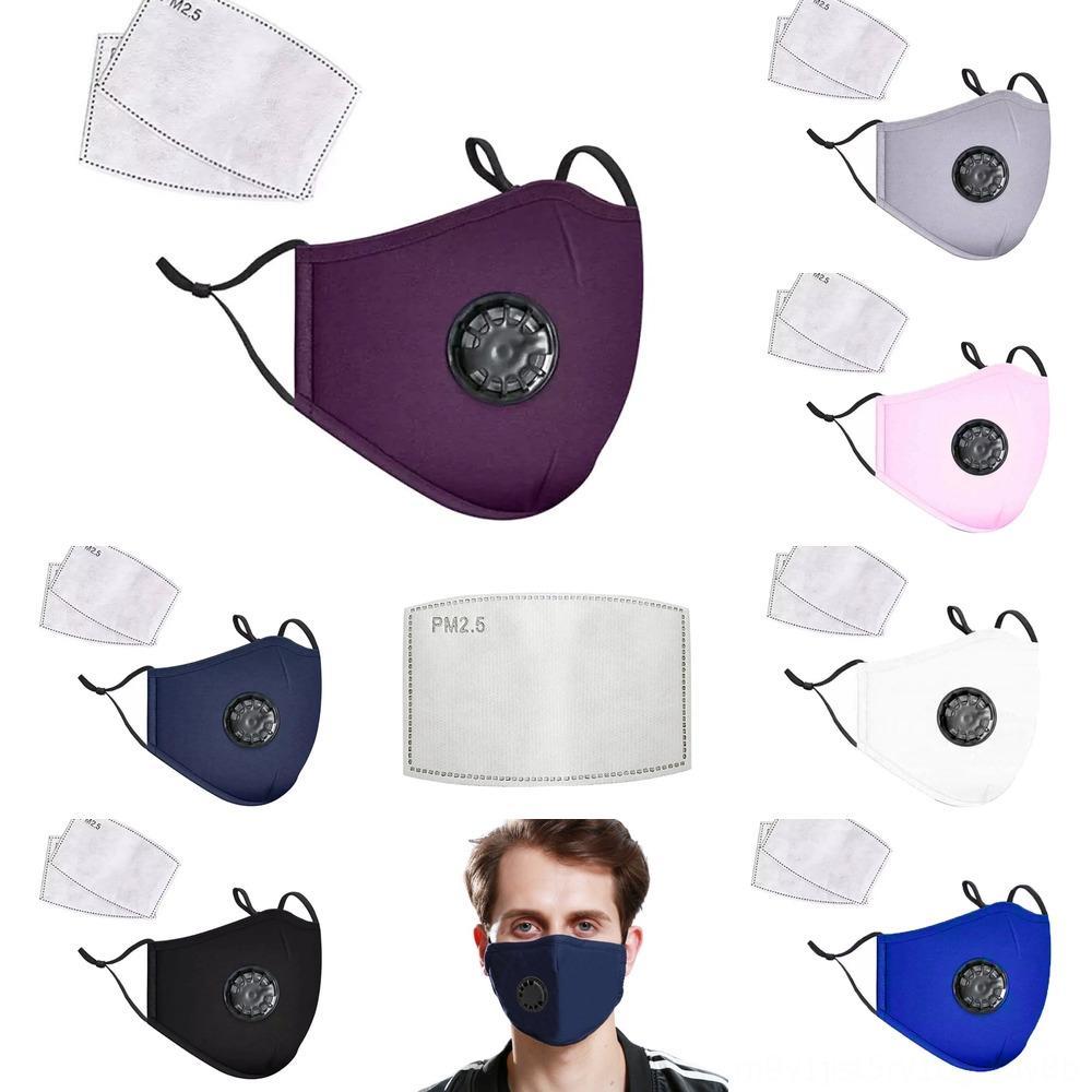 7raOZ Soft-Veränderbare PM2.5 Staub Haze Filter Schutzmasken Baumwolle Waschbar Wiederverwendbare K Gesichtsmaske Atemluft Valveface