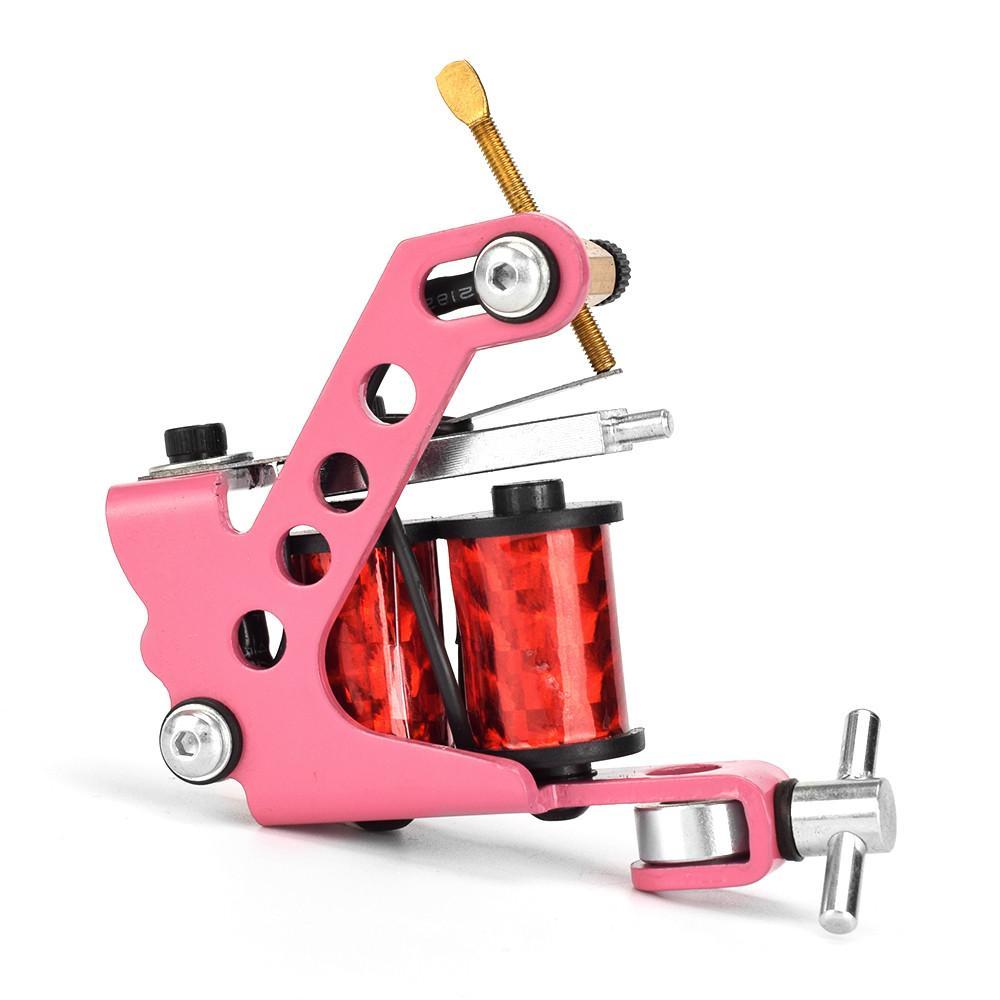 جديد الوردي قطع الأسلاك 10 التفاف لفائف آلة الوشم شادر اينر MAQUINA دي Tatuagem TATTO بندقية للماكياج موشم الدائم