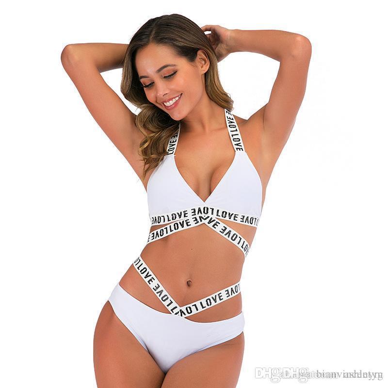 Bademode Frauen BH mit hohen Taille mit langen Ärmeln Bikini eingestellt High Cut Sexy Badeanzug Sonnenschutz Beach Wear Bikini Brief Badeanzug Schlepptau Bildern / set
