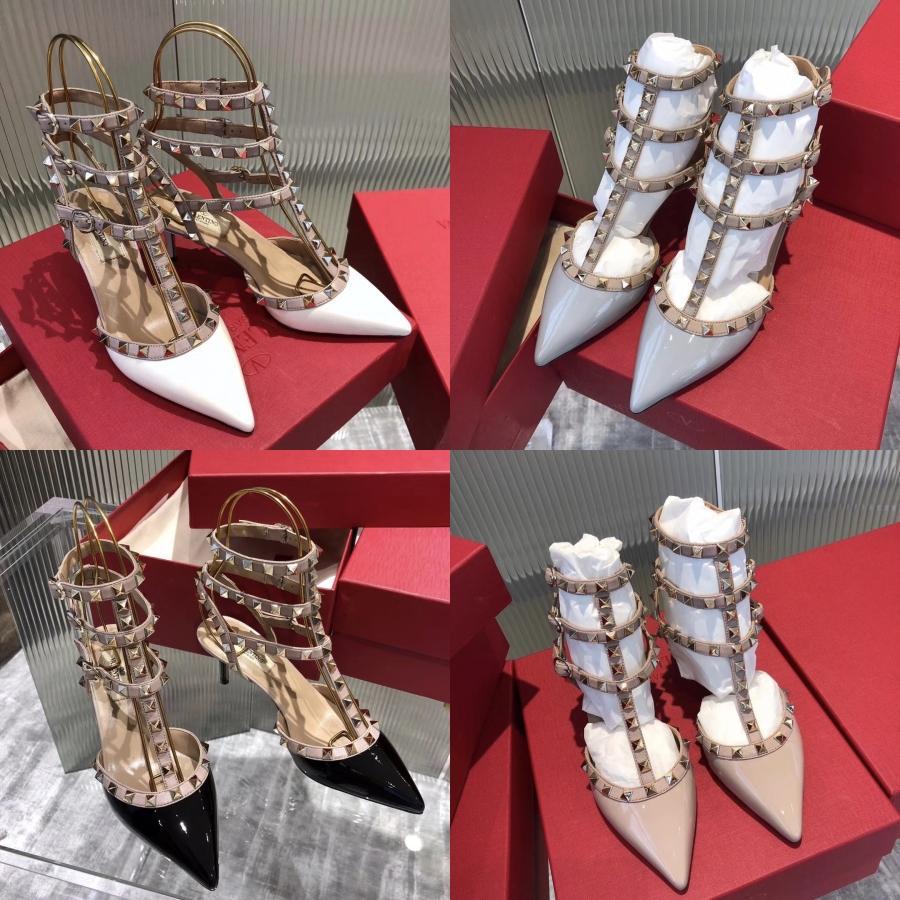 2020 Moda Ayakkabı Kadın Peep Toe Gladyatör Zinciri Sandalet Denim Stiletto topuk Sandalet Yüksek Topuklar Feminino Melissa Kadınlar Partisi Ayakkabı Sanda # 170
