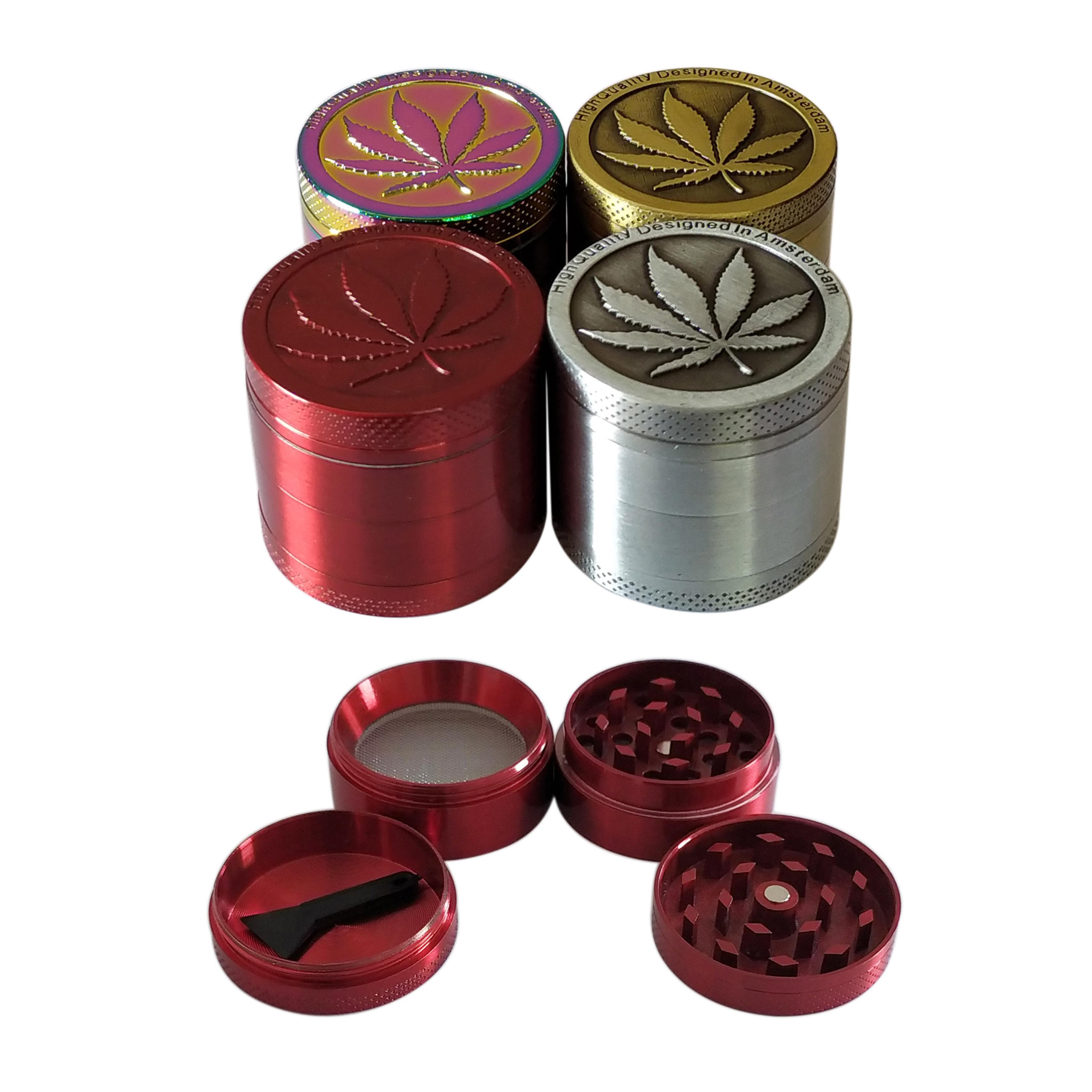 Custom Metal Herb Grinder 4 Parts 2 Inch 50mm