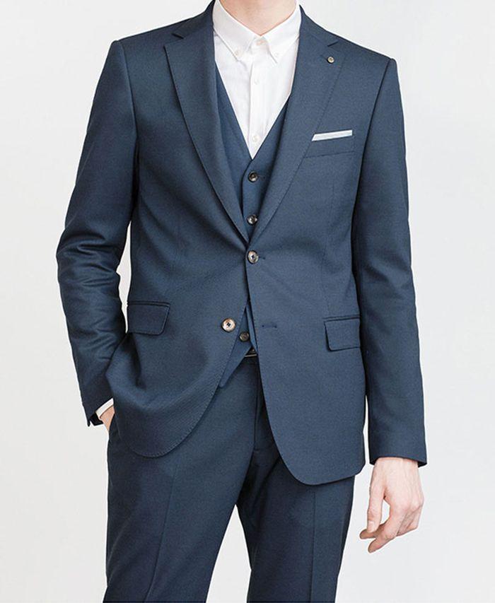 Costume escuro feito homens azuis ternos para casamento, ternos sob medida escuro Men Blue Slim Fit, Suits Tailor escuro feito homens azuis com calças