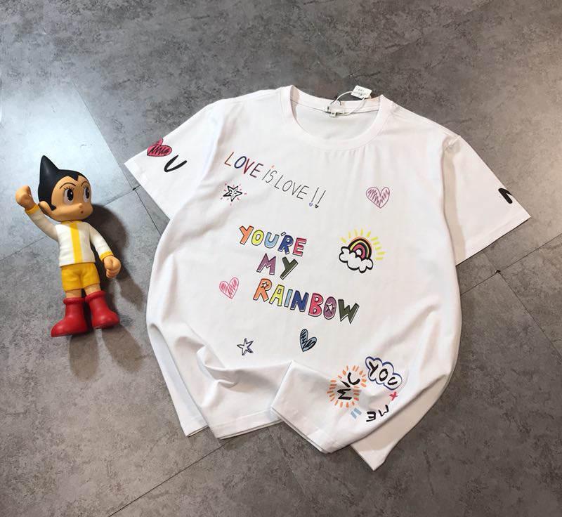 Camiseta para hombre camisetas de la moda unisex respirable cortocircuitos flojos mangas letras impresas Tops camisetas del verano