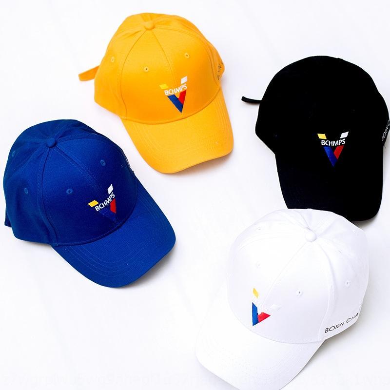 xcK8v estilo Nueva coreana Wang Jiaer con la misma letra amarilla bordada pato basebal gorra de béisbol de moda deportiva sombrilla de los hombres sombrero de la lengua
