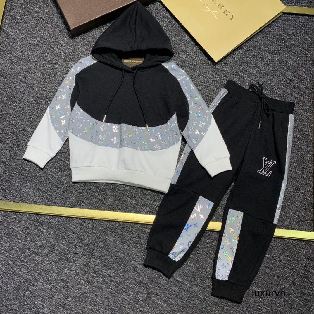 erkek kız moda rahat uzun kollu mektup ayı baskı kaliteli takım elbise Yeni dizi