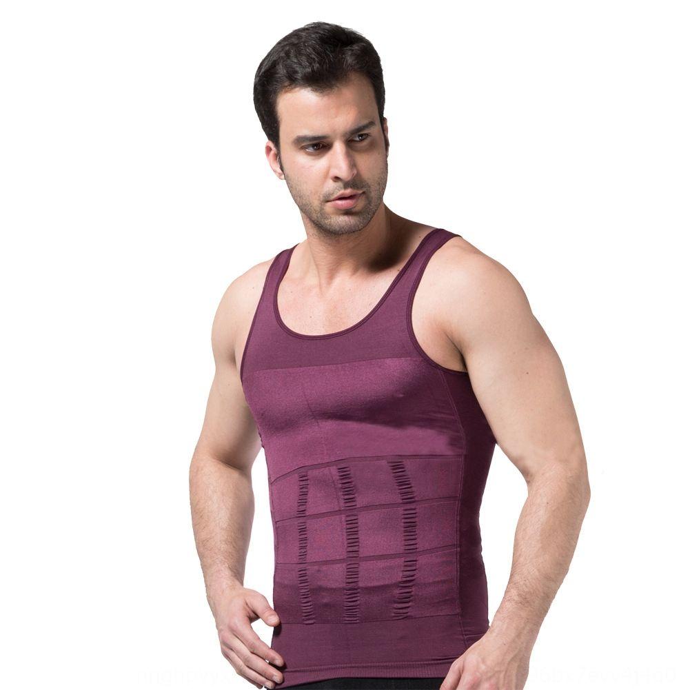 Sıkı üst LB6478 şekillendirme erkek bel bağlayan vücut güzelleştirici iç çamaşırı yelek Erkekler Üst İç vücudu şekillendiren göbek