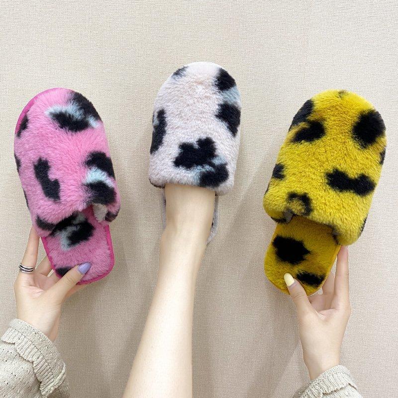 PUPUDA Новая зима Пушистые тапочки женщин Trend Furry Тапочки Комфортный Дом моды 2020