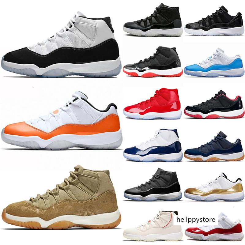 11s scarpe da basket 11 donne degli uomini Concord 45 Arancione Trance Cap Gown oliva Lux Platinum Tinta Unc palestra Red Trainer Sneakers Sport