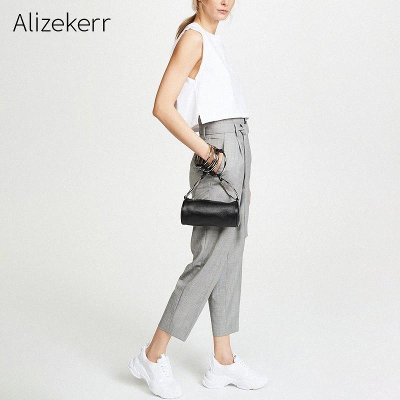 Sac d'épaule d'été pour les femmes Personnalité Anneau Petit sac en métal Bolsas De Mujer Messenger Femmes épaule TazW #
