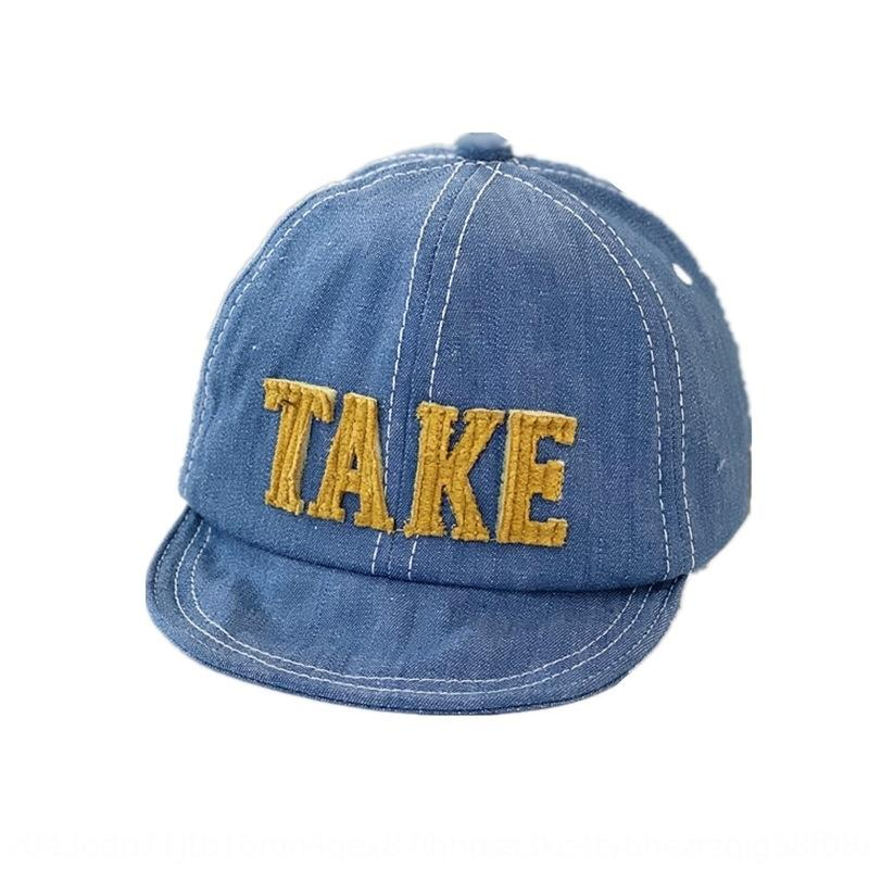 Bahar ve Yaz yumuşak ağzına kadar güneş mektup beyzbol şapkası boyscowboy çocuk siperli şapka erkek moda Yaz bebek capCowboy şapka bebek şapka