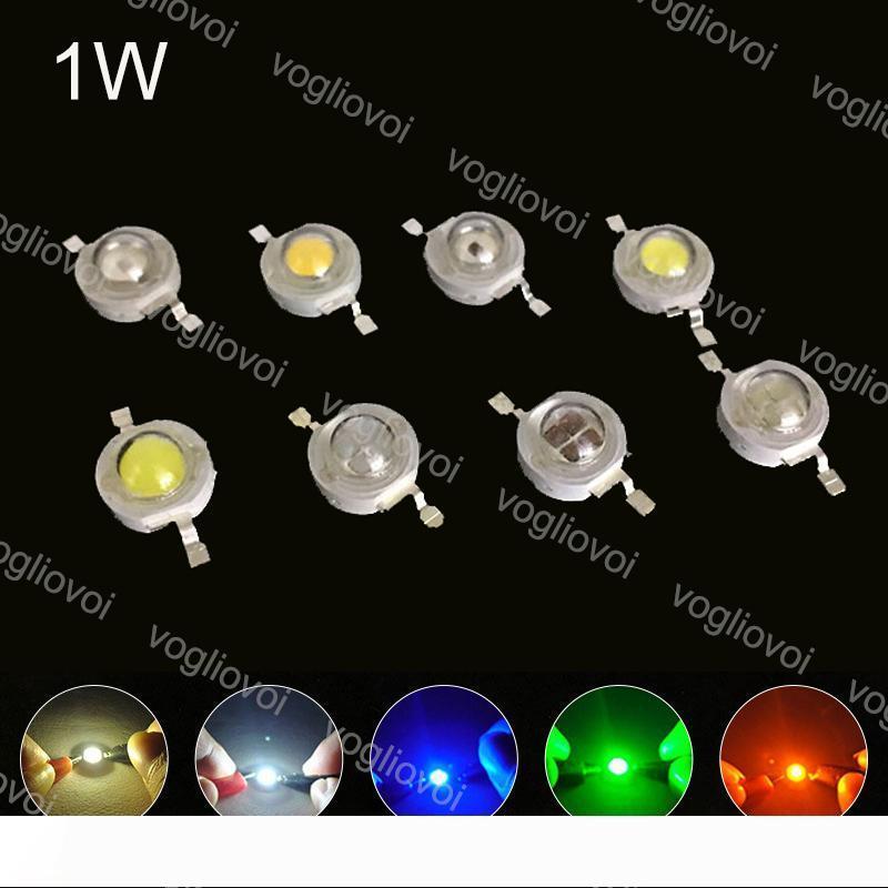 Свет шариков высокой мощности 1W Диоды Светодиоды Чип Теплый белый UV Multicolor Освещение Аксессуары для Светодиодный прожектор светильник лампы светать EUB