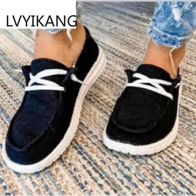 Otoño Mujeres zapatos planos casual hasta la Ronda de encaje del dedo del pie de las señoras cómodas zapatillas de deporte de los zapatos del conductor Zapatos Mujer Chaussure Hembra