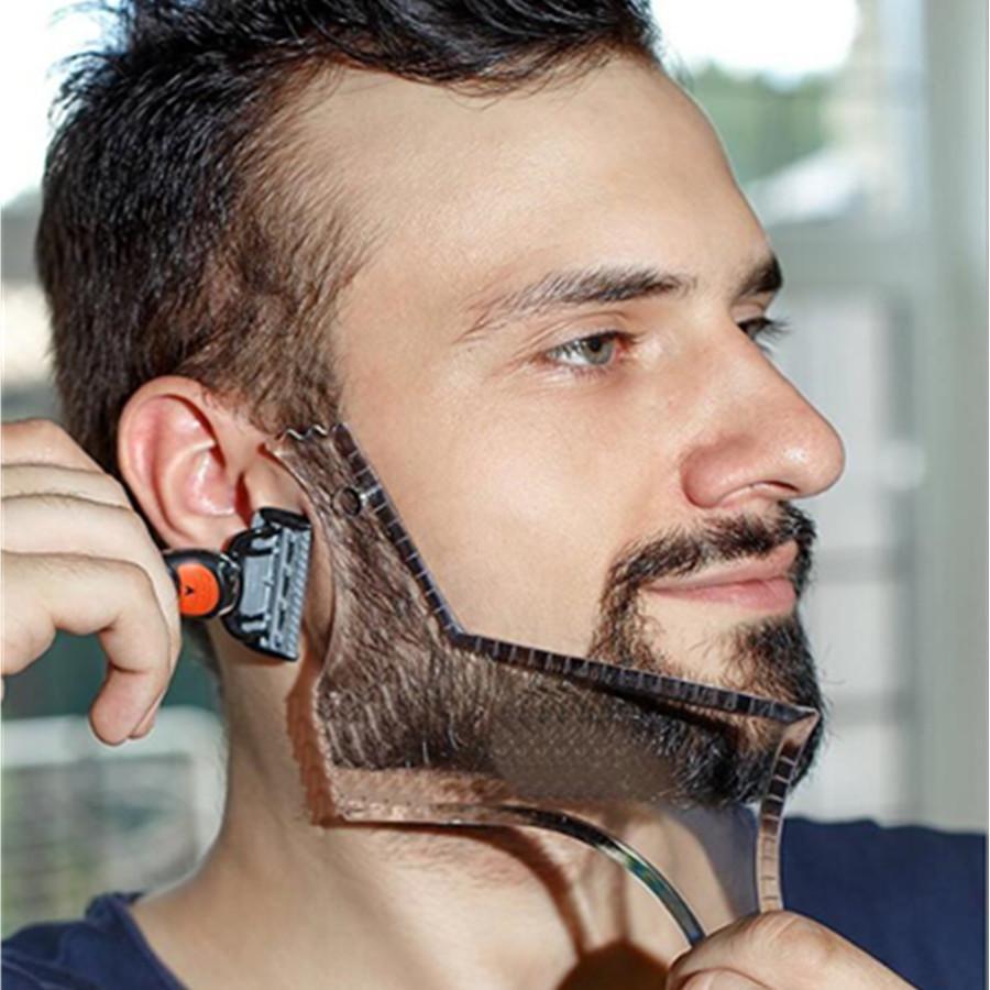 escova Beard Template barba bigode Shaping Chuveiro Salão Barba Barbear estilo barbear Forma styling comb cuidado Ferramenta