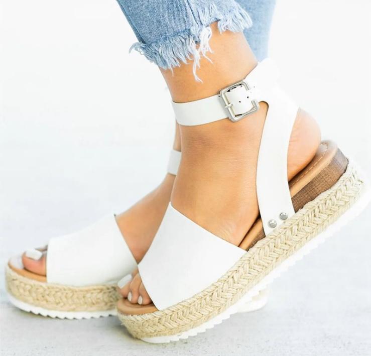 Heißen Verkauf Frauen Sandalen Plus Size-Keil-Schuh-Frauen-Absatz-Sandelholz-Sommer-Schuhe Flip Flop Chaussures Femme Platform