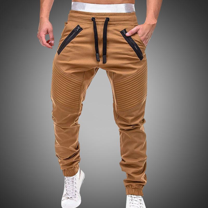 Workout pantaloni sottili Fitness CHRLEISURE Pantaloni Uomo 2020 nuovo svago jogging pantaloni della tuta Uomo Casual