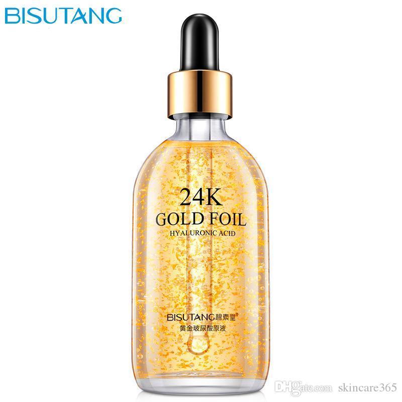 24K Gold Hyaluronische Lösung Hautpflege-Essenz Herstellen Haut Glattes zärtliches und elastisches Tiefwasser-Ergänzungsmittel empfindliche Haut kann verwendet werden!