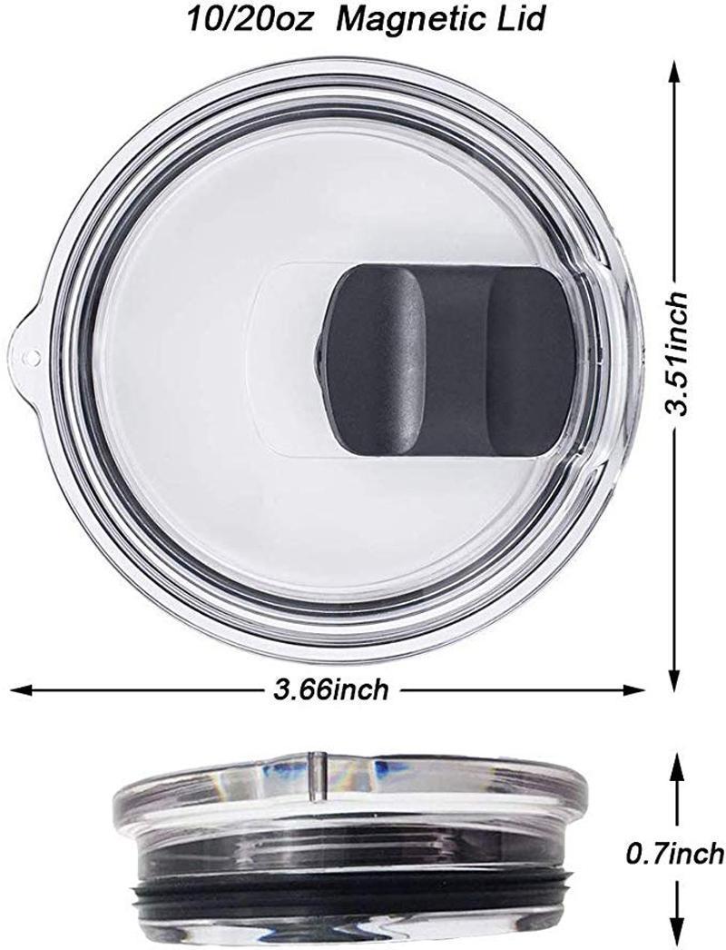 20 Unzen 30 Unzen Tumbler Lids Magnetic Slider Easy Clean Austauschbare Deckel Spill-Proof Shatter Resistant-Becher-Abdeckung