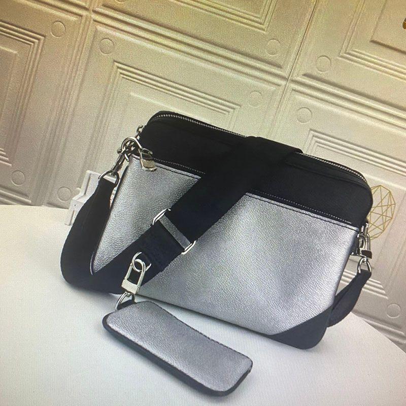 Großhandel TRIO Messenger Bag Eclipse-Reverse-Canvas Herren Umhängetasche 3-teiliges Set Mode Mann Umhängetasche mit Beutel Griff 69443