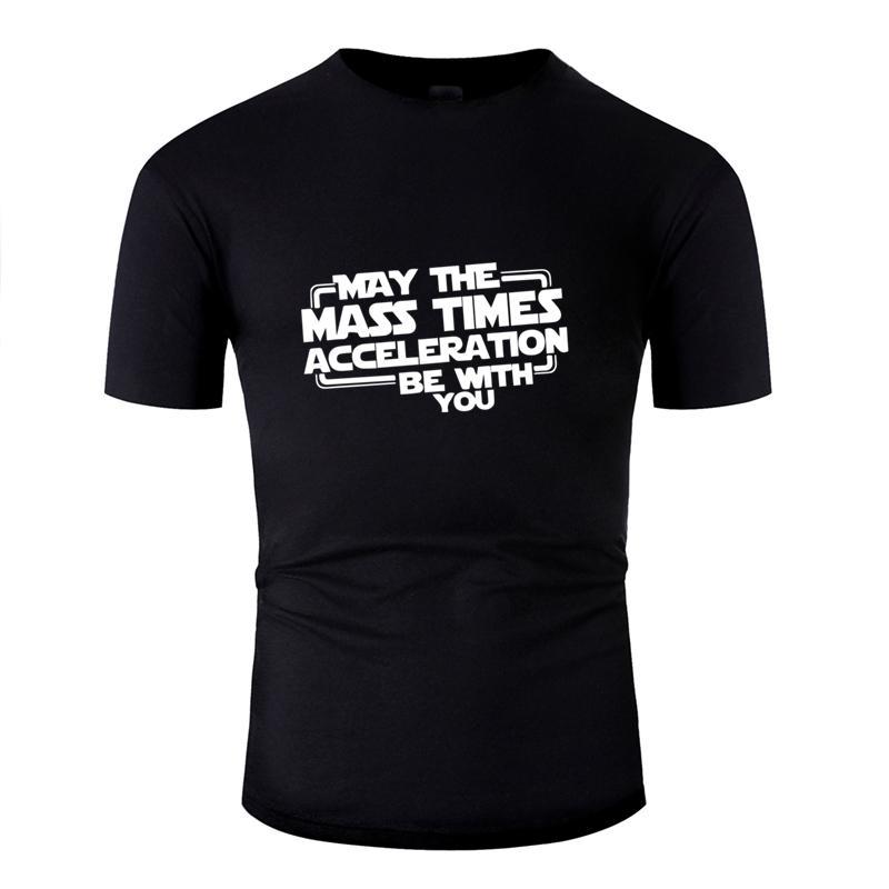 Personalizar clásica puede acelerar la masa multiplicada por estar contigo camiseta para hombres de ropa Naturales camiseta para hombre del algodón de cuello redondo