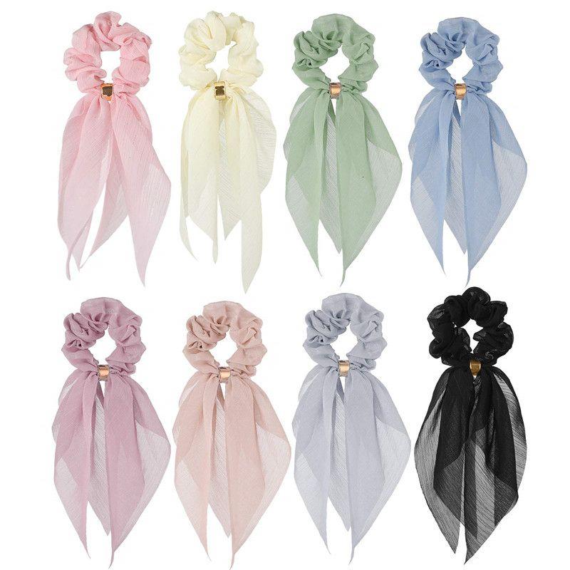Camada de moda Duplo arco de cabelo acessórios Headwear For Women 2020 Bandas na moda da menina cor sólida elástico de cabelo Ornamento