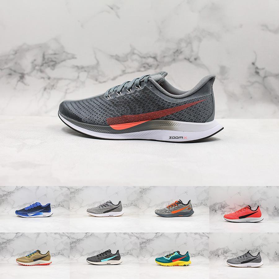Мужчины Zoom rooms Обувь Pegasus 35 Turbo 36 Следующие 37 бега запуска марафона дизайнера кроссовки на открытом воздухе 39-45 для мужчин