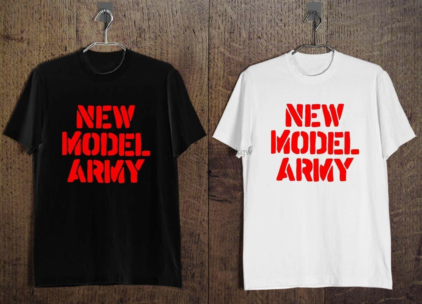 YENİ MODEL ARMY Rock Band Logo Erkek Tişört Siyah ve Beyaz