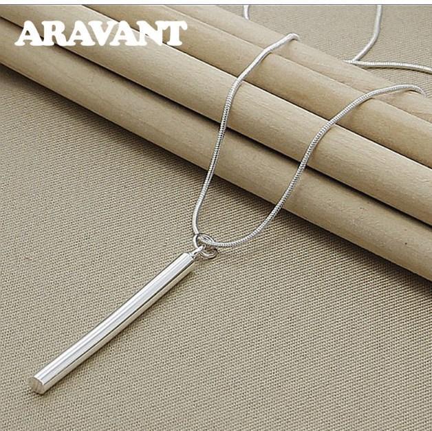 925 silberne Halskette Schmuck Runde Spalt Anhänger Halskette Ketten für Frauen Männer Fashion Jewelry