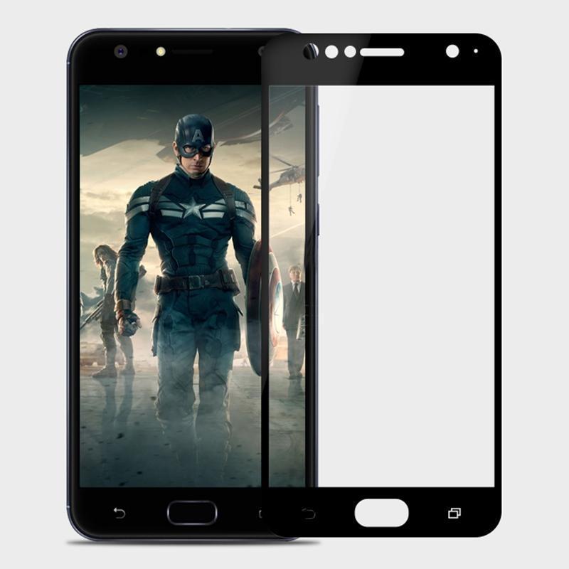MOFI pour Asus Zenfone 4 selfie ZD553KL 0.3mm 9H Surface dureté 2.5D bord incurvé anti-rayures HD Plein écran en verre trempé écran Protecto