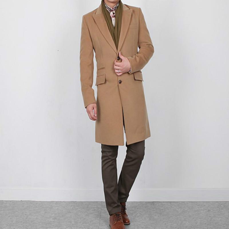 ZOGAA 2020 새로운 남성 코트 캐주얼 긴면 남성 울 코트 4 색 남성 코트 겨울 솔리드 남성 트렌치 재킷 플러스 사이즈 S-3XL