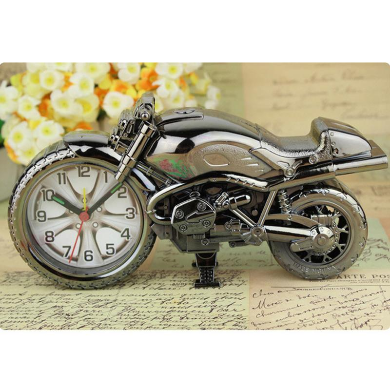 오토바이 모델 알람 시계 홈 장식 알람 시계 슈퍼 쿨 오토바이 알람 시계 휴일 크리 에이 티브 레트로 선물 장식 DBC BH0824