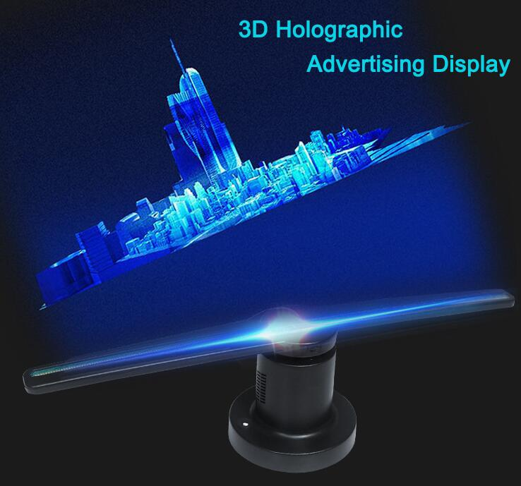 3D WIFI holographic advertising machine 42 cm fan rotating display LED projection screen 224 LED Naked Eye Projector Advertisement Player