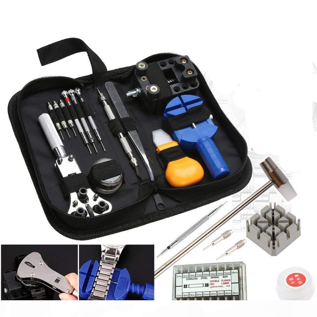 380pcs Uhr-Reparatur-Werkzeug-Kit Uhrmacher- zurück Öffner-Remover Federstift Bars