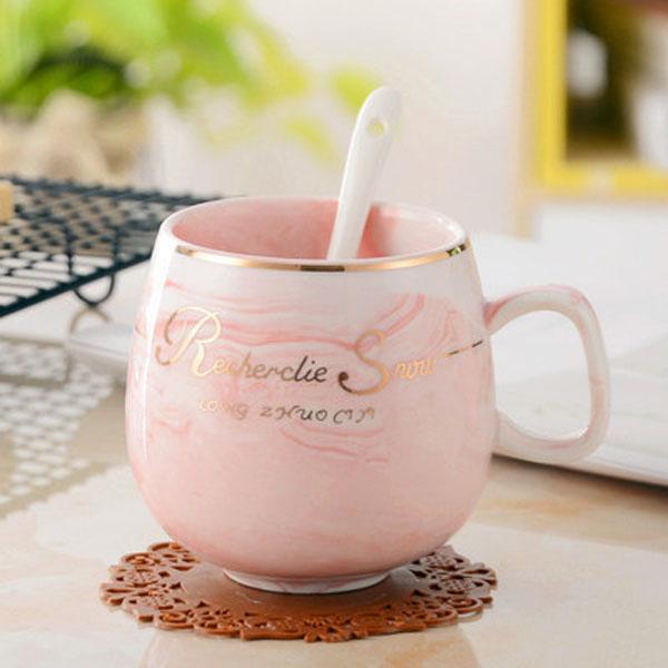 2020 7 styles COFFE MUG 300ml European style coffee cup set bone china coffee cup cow bird letter paint Coffee Cup professional mug
