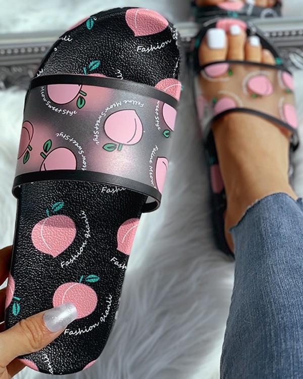 Cartoon Pvc Women Slippers Watermelon Banana Home Bathroom Slippers Summer Sandals Slides Women Shoes Flip Flops Sandalias 2020