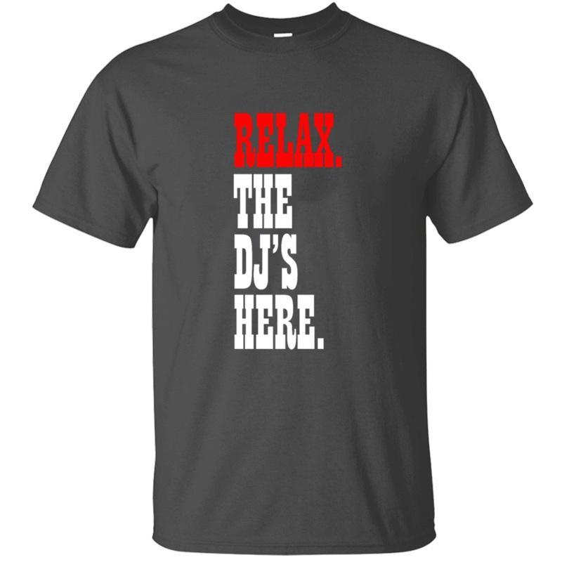 Личность Designs Relax. Dj здесь. Тенниска Для мужчин Известного Досуга Мужских футболок Негабаритных S-5xl Hiphop Top