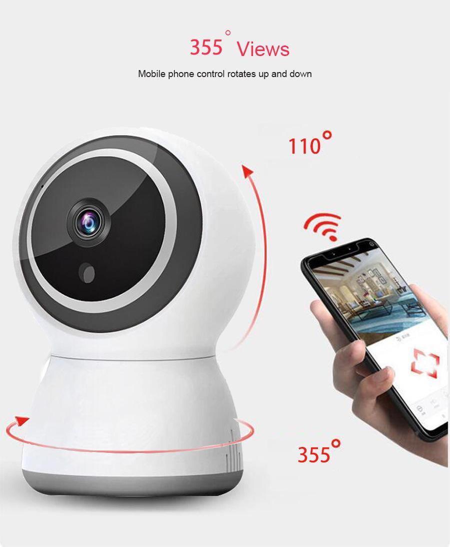 Smart WIFI camera 2 million 1080P surveillance head Day and night dual-purpose multi-function wireless camera