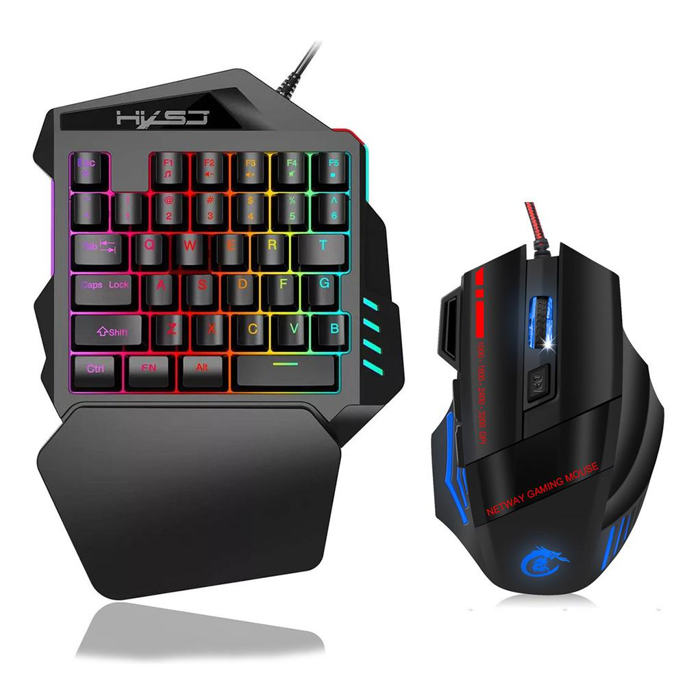 2020 Single Hand One Handed Mechanical Gaming Keyboard Rgb Backlit Portable Mini Gaming Keypad Mouse Set For Pc Ps4 Xbox Gamer From Virus5 0 11 Dhgate Com