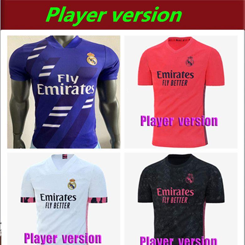 Player Version 20 21 Real Madrid Hazard-Fußball Jersey 2020 2021 real madrid Trikots BENZEMA SERGIO RAMOS KROOS 19 20 Fußball-Trikots