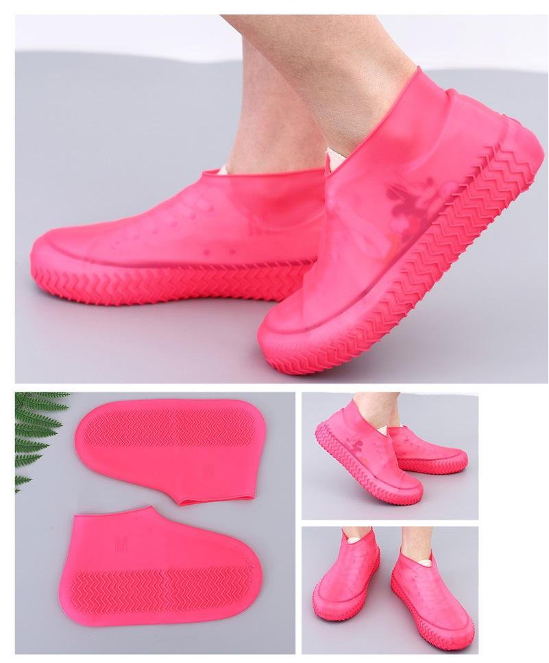 Rain protector Children Adult Outdoor Waterproof Plastic Silicone Protective Shoe Covers Waterproof Foldable Non-Slip Protect Shoes YDL045